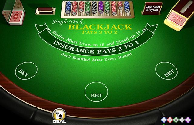 Blackjack s jednim špilom
